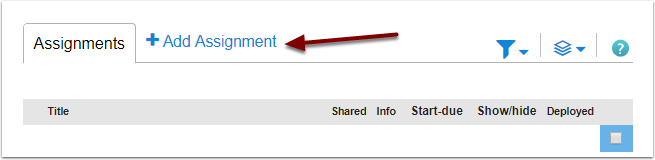 McGraw-Hill Connect Add Assignment button