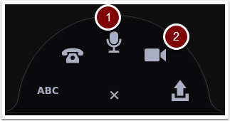 VoiceThread comment options opened, highlighting audio comment and video comment