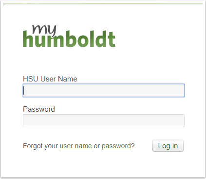 myHumbodt login screen