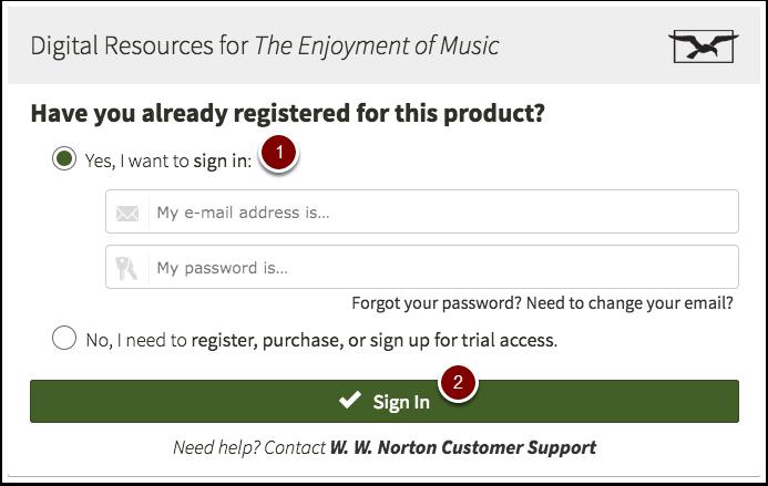 Norton Digital Resources sign in