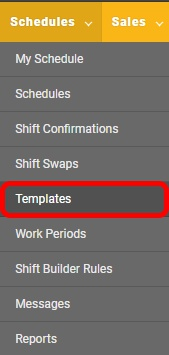 "Go to the ""Templates"" page."