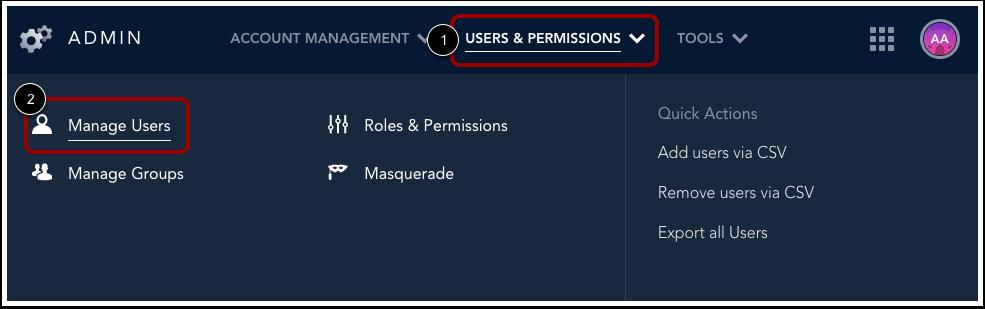 Ouvrir Gestion de l'utilisateur