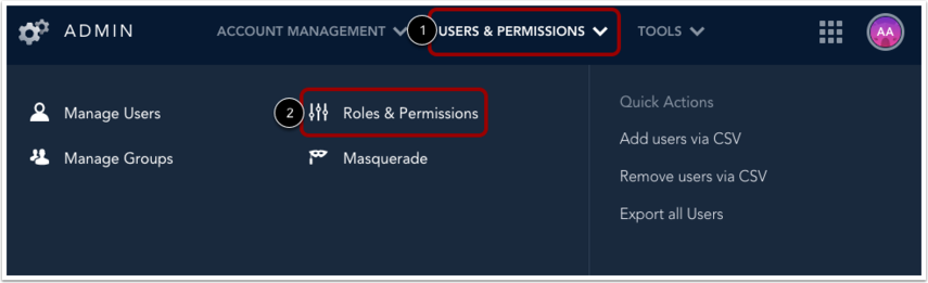 Open Roles and Permissions