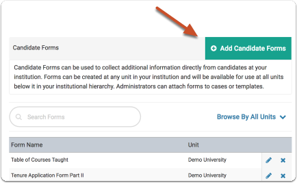 "Click ""Add Candidate Forms"""