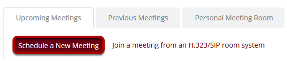 Schedule a new meeting