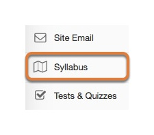 Access the Syllabus tool.
