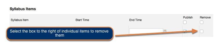 Remove items