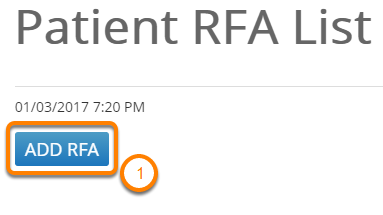 Or the Patient RFA List Page