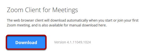 Zoom client download