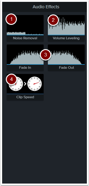 Audio effects tools