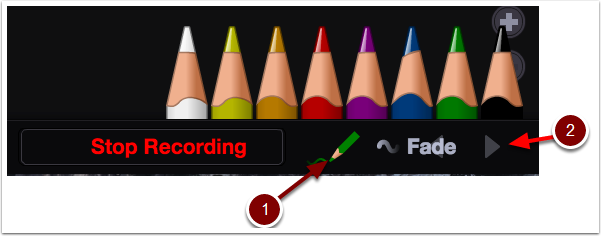 VoiceThread comment editor opened to the pencil icons.