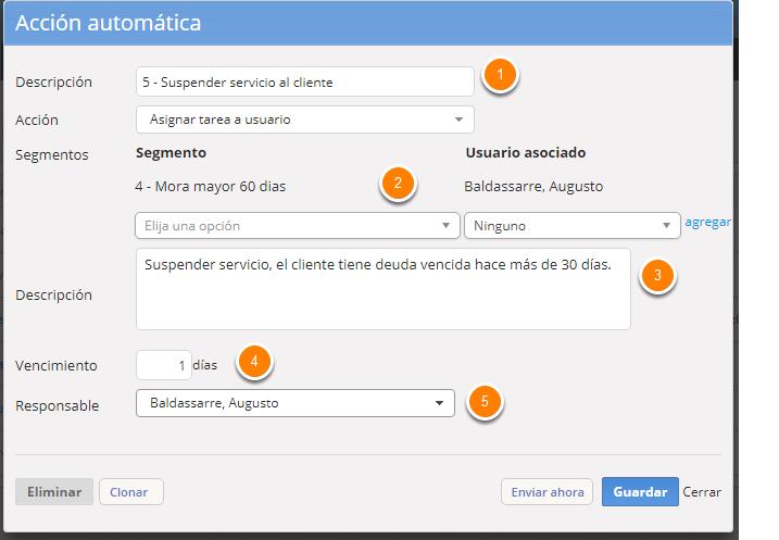 """Completa los campos del formulario y al finalizar haz clic en """"Guardar""""."""