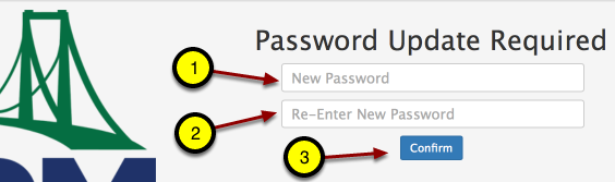 "Type in new password and then again! Click ""Confirm."""