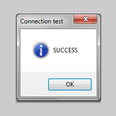 Connection Test Success!