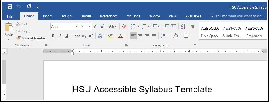 Microsoft Word Home Tab