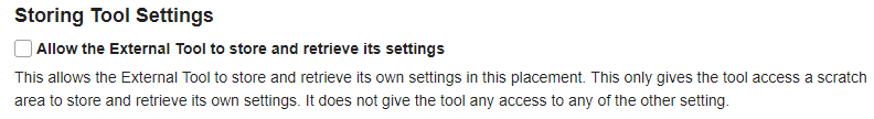 Storing Tool Settings. (Optional)