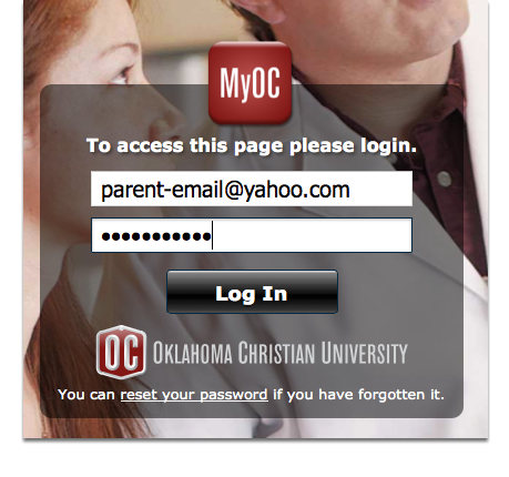 Signing in to MyOC