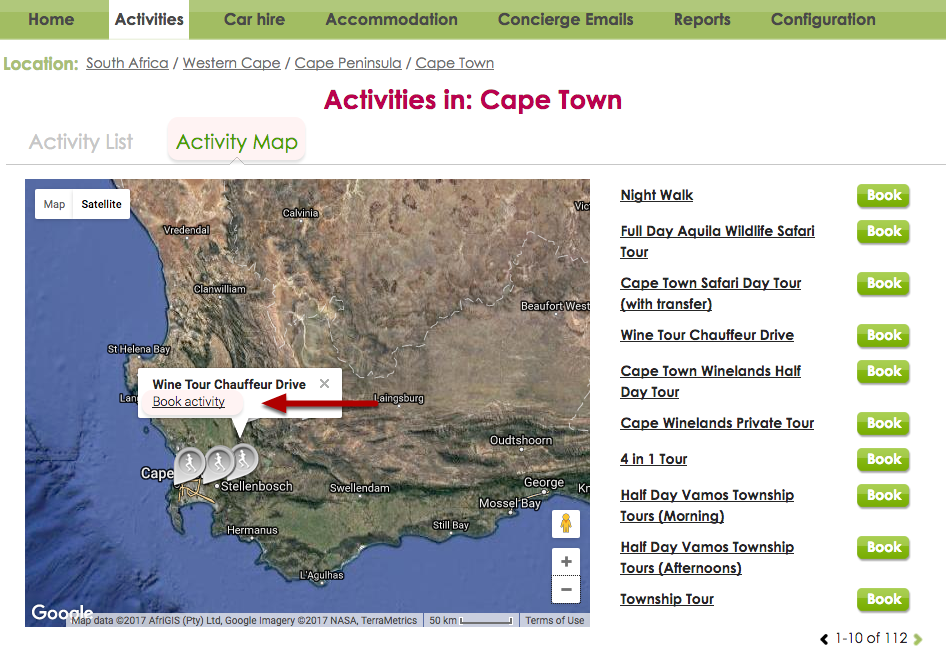 Activities - By Map