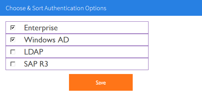 Authentication Options