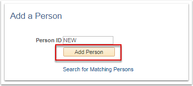 Add a Person section
