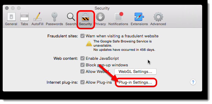 click on Plug-in settings.