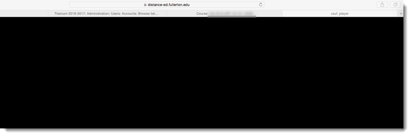 black within Safari web browser