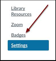 Course Navigation Badges