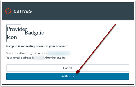 Authorize Badgr in Canvas