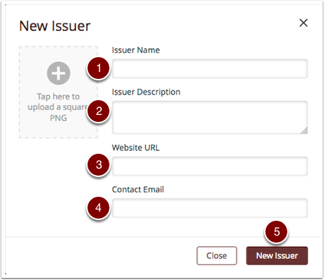 Create New Issuer
