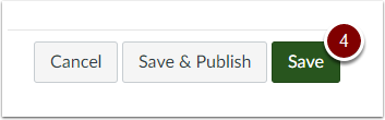 Canvas Save Assignment button