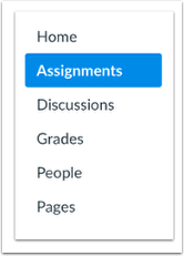 Click on Assignments within the Course Navigation.