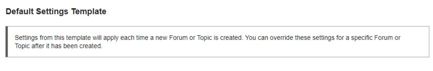 Configure default settings.