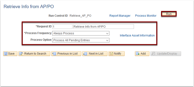 Retrieve info from AP/PO
