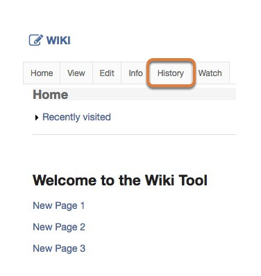 Accessing the revision history of a wiki page