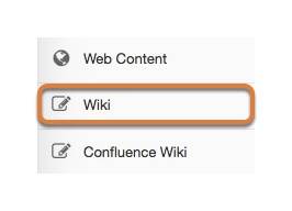 Accessing the Wiki tool