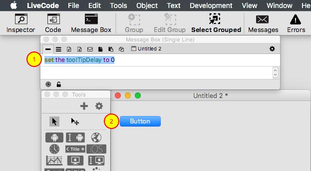 Disable the toolTip via script