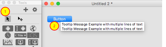 View the toolTip now with multiple lines of text