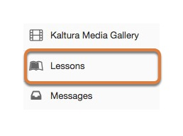 Accessing the Lessons tool