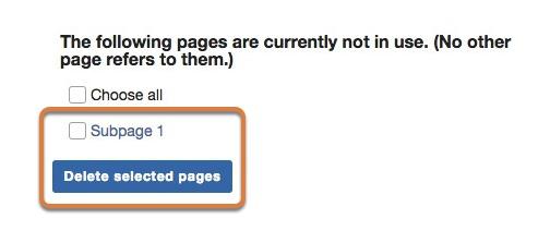 Delete the page