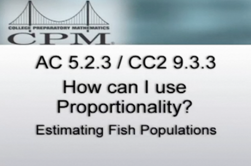 Estimating Fish Populations: