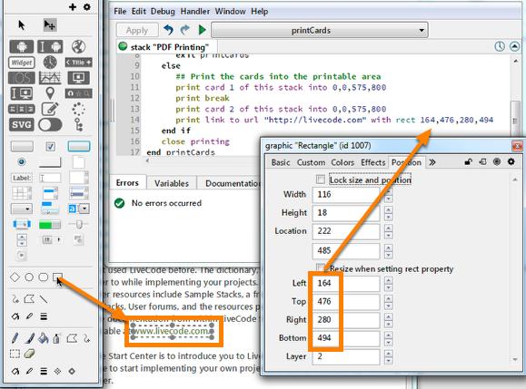 Adding an external link to the PDF