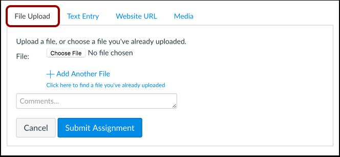 Presentar una carga de archivo