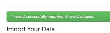 Step 5: Import Confirmation