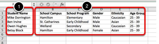 Step 1: Create Spreadsheet