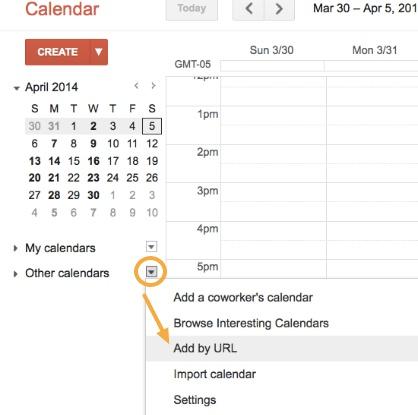 Google Calendar Web Version Step 1