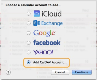 Step 3: Add CalDAV