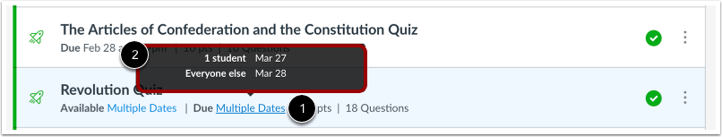 View Quizzes