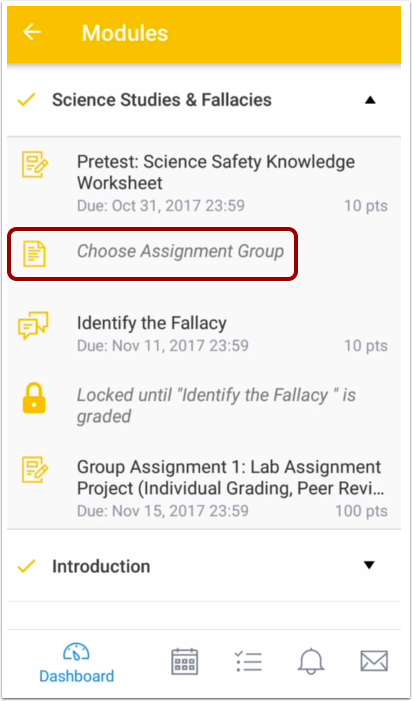 Choose Assignment Group