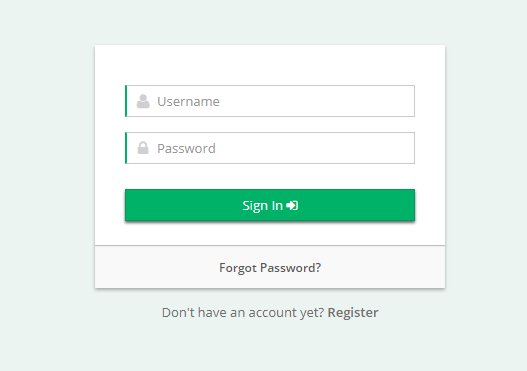 Go to your log in page.