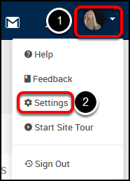 portal profile menu